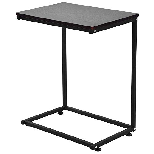 YANGSANJIN Computer Table,Sofa Bed Side End Table, Over Bed Table, C Shaped Table Laptop Holder, End Stand Desk Coffee Tray Side Table, Notebook Tablet Nightstand