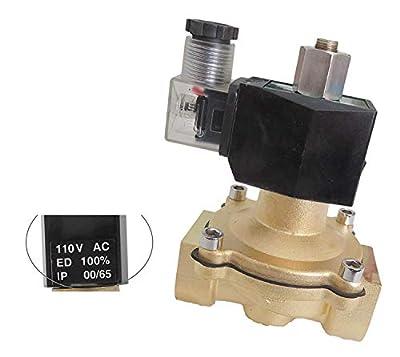 1 inch NORMALLY OPEN 110V 120V AC VAC Brass Solenoid Valve NPT from CARBEX