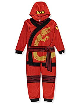 Lego Ninjago Little Boys  Red Hooded One-Piece Pajamas 4-5