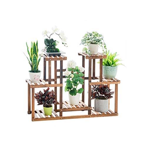QPLKKMOI Solid Wood Stand Planter Shelves Flower Pot Rack Multi-storey Folding Display Shelving