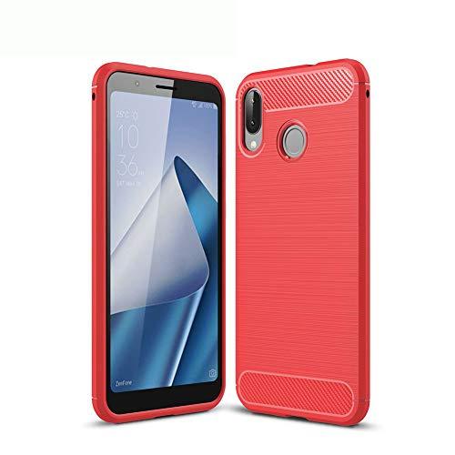 XunEda ASUS ZenFone Max(M1) ZB555KL 5.5' Cover Custodia, Ultra Sottile Custodia in Silicone TPU Protettiva Antiurto per ASUS ZenFone Max(M1) ZB555KL Smartphone(Rosso)