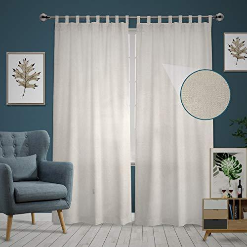 "DIRT DEFENSE Set of 2: Canvas Drop Cloth Curtains 53""x108"". Bedroom Curtains/Living Room Curtains & Outdoor Farmhouse Curtains. Classic Rustic Curtains Pair cortinas para habitacion/sala"