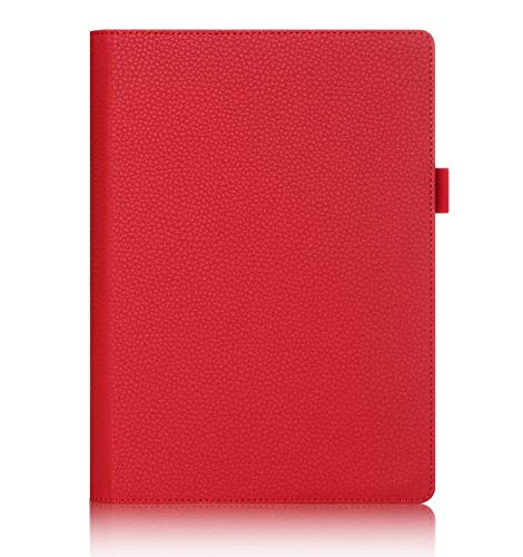 ISIN Premium PU Funda Cover Carcasa para Lenovo Yoga Tab 3 Plus y Lenovo Yoga Tab 3 Pro 10,1' Tablet(Rojo)