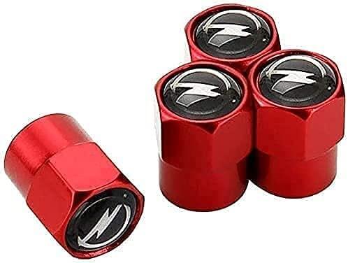 4PCS RUEDAS DE COCHES Tapas de válvulas de polvo para Insignia de Opel ASTRA J G Corsa D Mokka, con junta tórica de goma, sin suelos, tornillos, sello, neumáticos mejorados Accesorios de decoración
