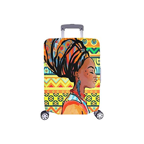 "InterestPrint Aztec African American Woman Travel Luggage Cover Suitcase Baggage Cover Fits 26""-28"" Luggage"