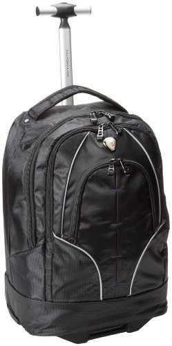 CALPAK Rickster Black  20-inch Rolling 17-inch Laptop Backpack