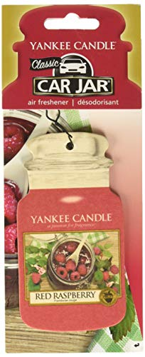 Yankee Candle Red Raspberry Classic Car Jar, scatola di cartone, Rosso, M