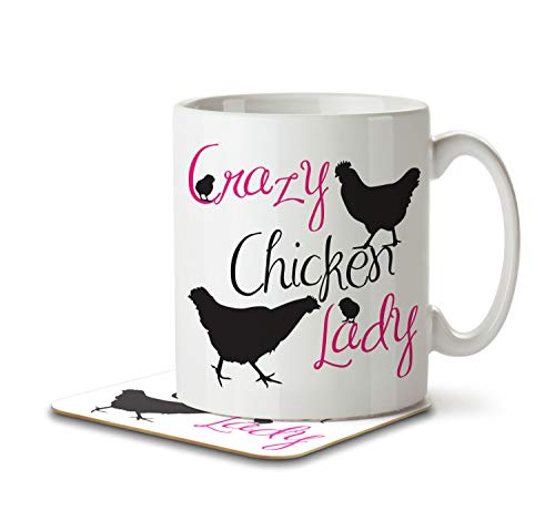 Mug and Coaster by Inky Penguin Crazy Dog Lady