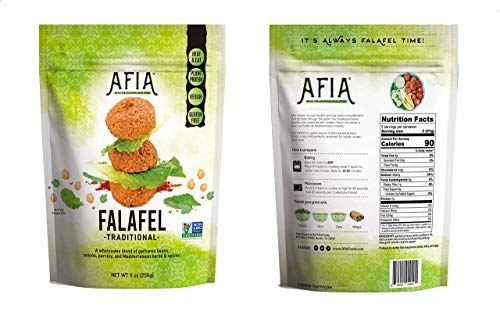 Non-GMO Project Verified Frozen Gluten free/Vegan Falafel - Pack of 12 Bags (180 count Falafel) - Just Heat and Eat!