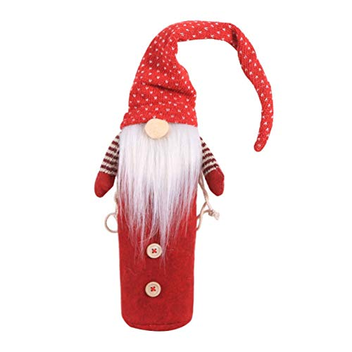 WWLIN Wine Bottle Cover Gift Bag Holder Christmas Holiday Home Party Dining Table Decor