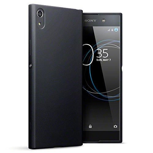 TERRAPIN, Kompatibel mit Sony Xperia XA1 Ultra Hülle, TPU Schutzhülle Tasche Hülle Cover - Matt Schwarz