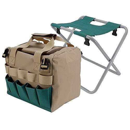 WNSC Gartenhocker Stuhl Kneeler, Multifunktion mit Tasche Gartenstuhl, Verschleißfeste Gartengeschenke für Camping Garden