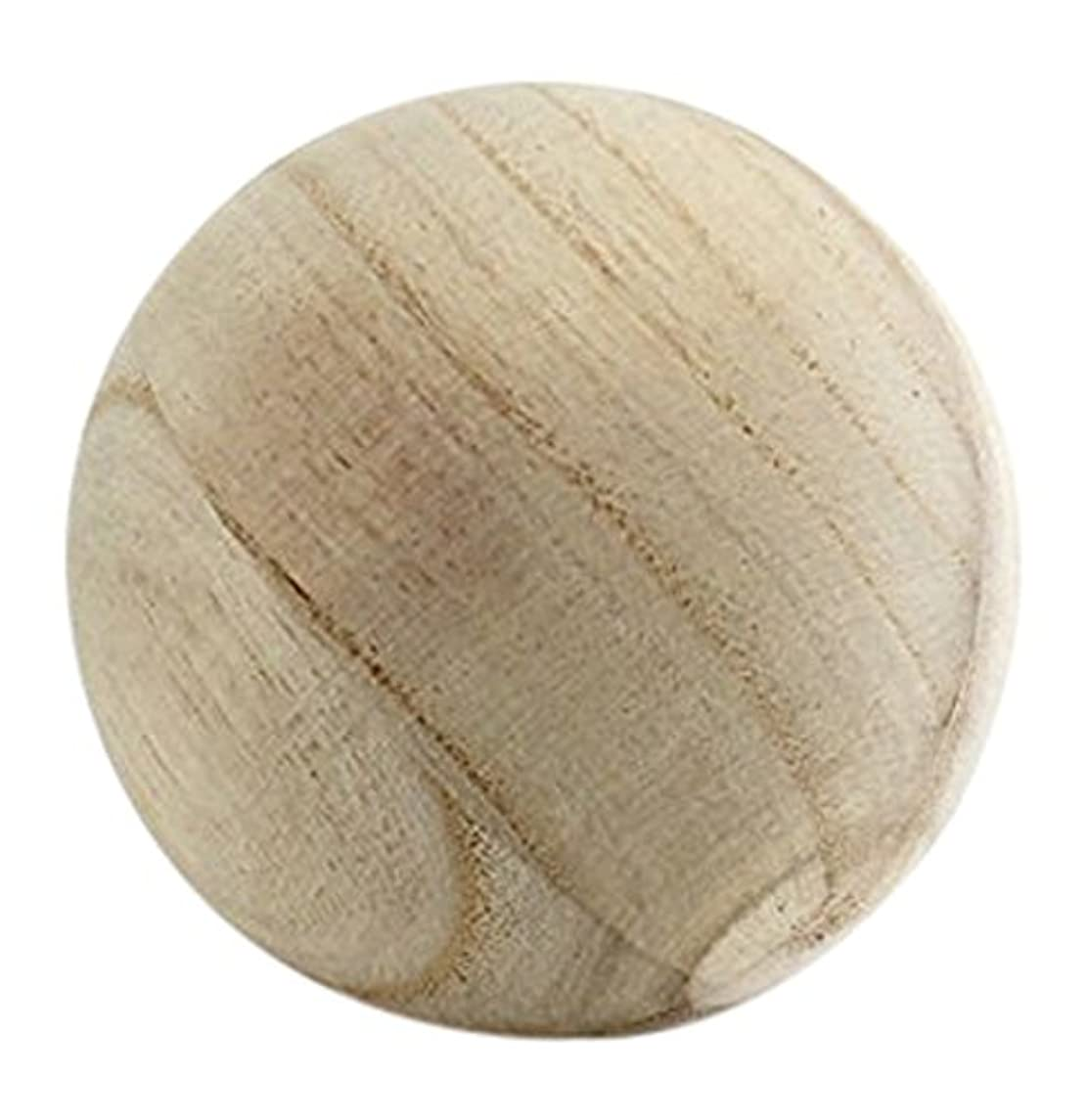 CYS EXCEL Natural Round Wood Ball, Round Wood Unfinished for DIY Jewelry Making, Wood Craft Balls for Art Design, 5 Inch Dimension, Pack of 2 jikzemmszw8