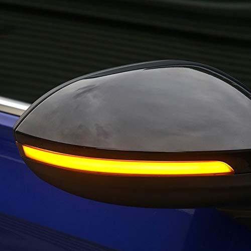 Dynamische Blinker, Spiegelblinker Dynamische LED-Blinkleuchten für Golf 8 MK8 2020 2021, Plug and Play, Black Edition, 2er-Set