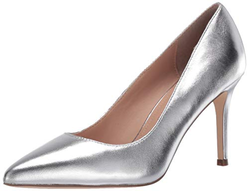 Charles David Women's Middle Heel Pump, Silver, 9.5