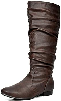 DREAM PAIRS Women s BLVD Brown Knee High Pull On Fall Weather Boots Size 9 M US