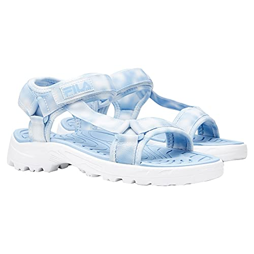 Fila Women's Andros River Adjustable Strap Sandal (Blue Tie Dye, Size 6)