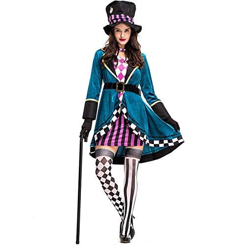 UYZ Disfraz de Halloween para Adultos Disfraz de Personaje de Cuento de Hadas de fantasía Disfraz de Mago de Cuento de Hadas para Mujer Adulta, para Fancy Dress Party Club Carnival Gras, L