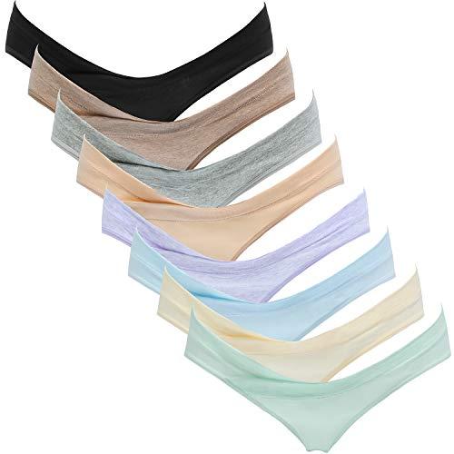pregnancy panties Suekaphin Womens Maternity Panties Maternity Underwear Pregnancy Postpartum Cotton Under Bump Brief
