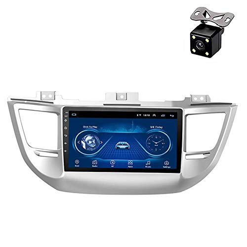 PLOKM Android estéreo para Coche 9 Pulgadas Mirror Link Autoradio para Hyundai Tucson 2015-2018, navegación GPS, Reproductor de DVD, WiFi, Bluetooth, Am, FM,RDS, Dab+,OBD2