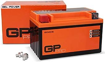 GP-PRO GTX7A-BS - Batería de arranque para scooter y motos, 12V, 7Ah, parecido a YTX7A-BS / 50615, sin necesidad de...