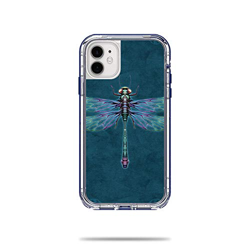 MightySkins Skin for Lifeproof Next Case iPhone 11 - Vibrant Dragonfly | Protective, Durable, and Unique Vinyl Decal wrap Cover | Easy to Apply, Remove, and Change Styles | Made in The USA