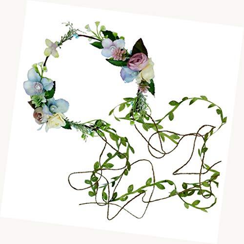 LYM Vigne Fleur Guirlande Nouveau Produit Bandeau Couronne Prom Prom Photographie Mariage (Couleur : A)