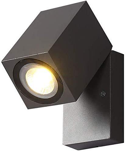 Led-buitenwandlamp 90 deg; draaibare moderne waterdichte wandlamp 5 W energiebesparende 3000 K warme lichten zwarte wandschijnwerper voor wand-, pad-, ingangs- en buitenverlichting.