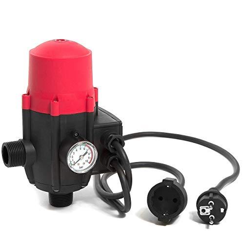 Hengda Pumpensteuerung mit Baranzeige Druckwächter 10bar Elektronische Druckschalter, mit Kabel Automatisches EIN- und Ausschalten