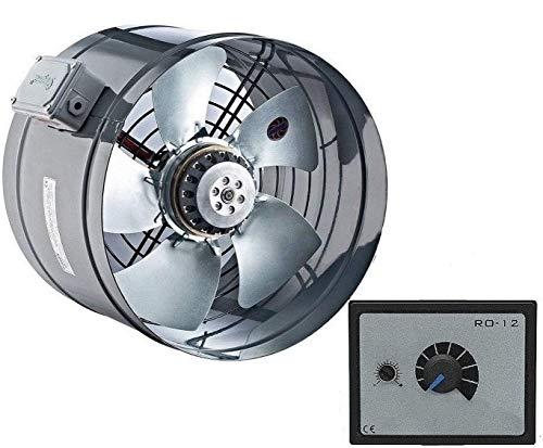 400mm Industrie Rohrventilator und 500 Watt REGLER Kanallüfter Kanalventilator Rohrlüfter Rohrgebläse Ventilator Axial Axialventilator Rohr Kanal Motor Gebläse Lüfter Kanalgebläse Axiallüfter