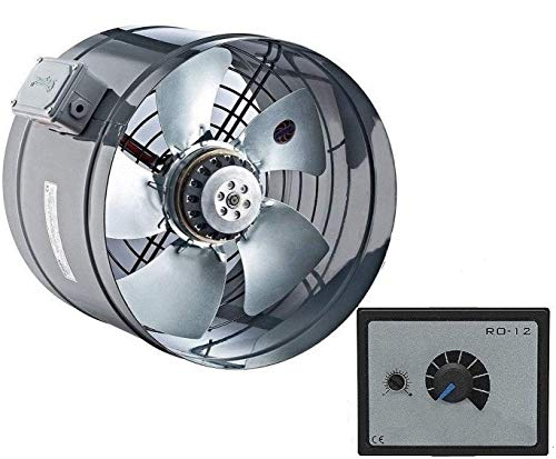 Uzman-Versand YB-300MM Rohrventilator mit 500Watt Drehzahlregler, Kanallüfter Kanalventilator Rohrlüfter Rohrgebläse Ventilator Axialventilator Axial Rohr Kanal Gebläse Lüfter Kanalgebläse