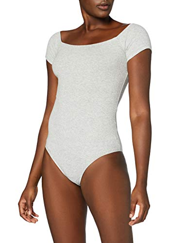 Marca Amazon - MERAKI Trajecito de Algodón Mujer, Gris (Light Grey Marl), L, Label: L