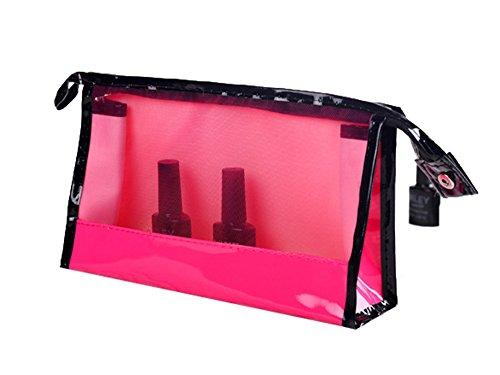 Magiböes Transparente Mode Hand Make-up Tasche Aufbewahrungstasche Finishing Paket Reise Waschbeutel, 2PCs