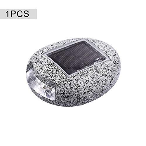 ZBDudu Solar-LED-tuinverlichting op zonne-energie in steenvorm in de openlucht, tuinlandschap buiten, voor terras, gazon