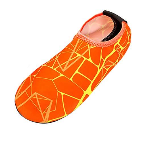 Sunenjoy Chaussures Aquatique pour Sport d'eau Piscine Plongée Natation Chaussons de Plage Femme Homme Chaussettes Rayures Dérivees River Wading River Sport Antidérapantes