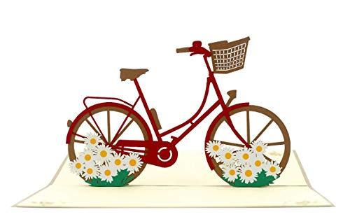 Diese Klappkarte Geburtstag 3-D Pop Up Karte Grußkarte Holland Fahrrad 18x12cm