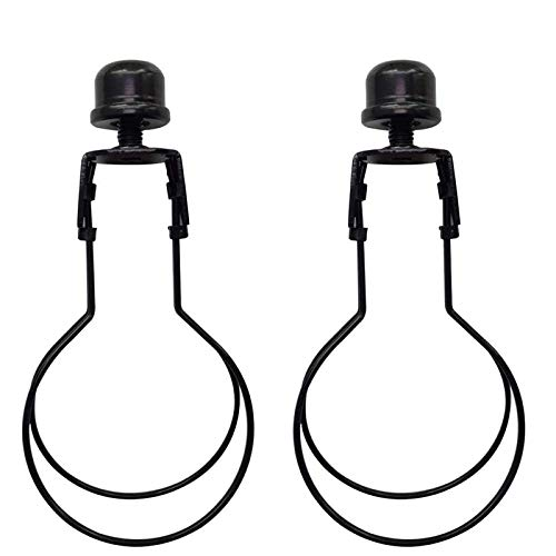 Lamp Shade Light Bulb Clip Lampshade Adapter - Finial and Lampshade Levellers for Clip On Light Bulbs(2Pack)