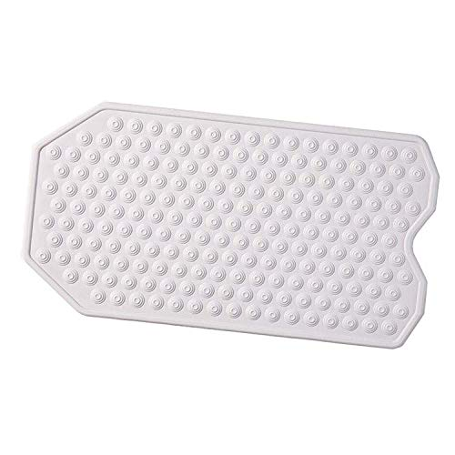 The Original Refinished Bathtub Mat - No Suction Cup Bath Mat, Designed for Textured and Refinished Bathtubs Made of Rubber Not Cheap Plastic, Great for Children and Elderly (White)