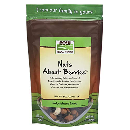 NOW Foods, Nuts About Berries™, Delicious Blend of Raw Almonds, Raisins, Cranberries, Walnuts, Cashews, Blueberries, Cherries and Pumpkin Seeds, 8-Ounce -  004EICE80DR10R7