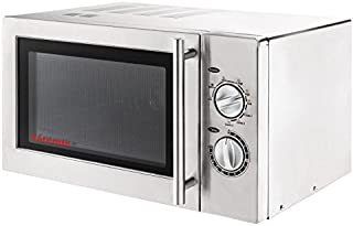 Caterlite CD399 - Horno microondas con grill, 900W, Acero inoxidable