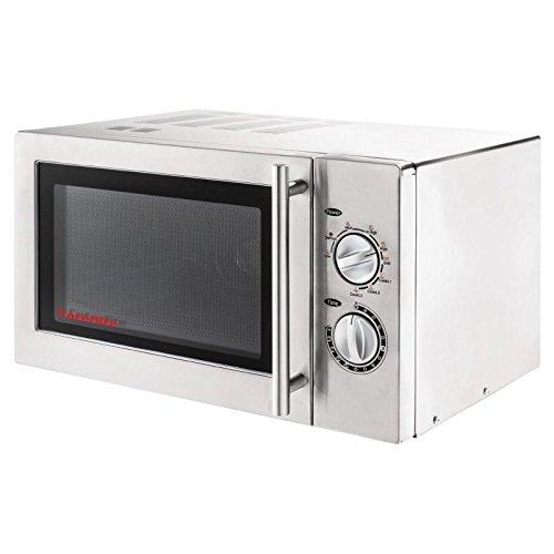 Caterlite CD399 - Horno microondas con grill, 900W, Acero inoxidable
