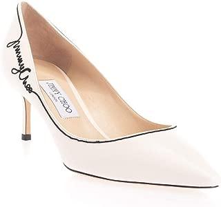 JIMMY CHOO Luxury Fashion Womens ROMY60JCALATTEBLACK White Pumps   Fall Winter 19