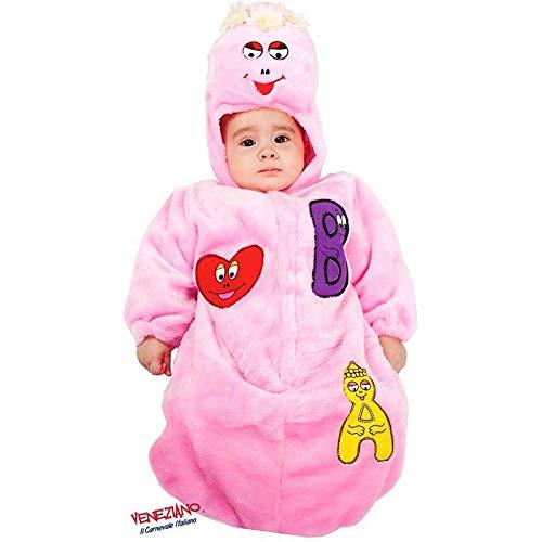 Babyshop Baby-Plüsch-Schlafsack Mädchen rosa 3641, ab Geburt mit Kapuze, Klettverschluss