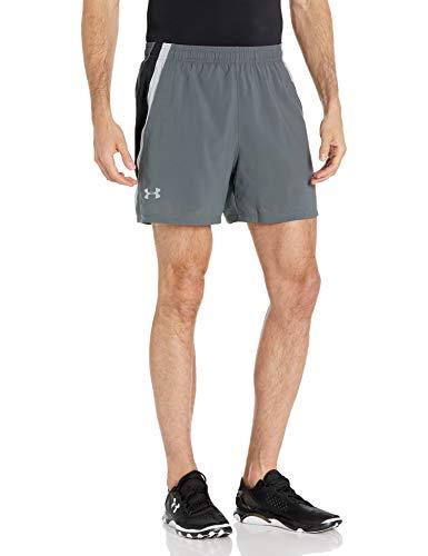 Under Armour Men's UA Launch SW 15cm Shorts Pantalones Cortos Deportivos para Hombre, Gris (Gray), S