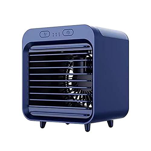 Aire acondicionado portatil silencioso,2021 Nuevo mini ventilador portátil de aire acondicionado de refrigeración de escritorio para el hogar, pequeño ventilador de aire acondicionado