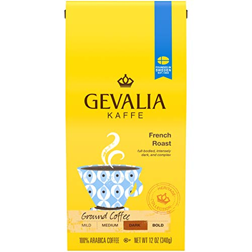 Gevalia French Roast Ground Coffee (12 oz Bags, Pack of 6)