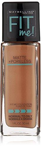 Price comparison product image Maybelline New York Fit Me Matte Plus Pore Less Foundation,  Truffle,  1 Fluid Ounce