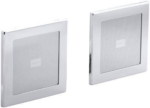 KOHLER K-8033-CP Soundtile Speakers(Pair of Speakers), Polished Chrome