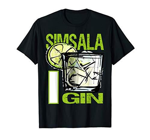 Simsala Gin Design für Gin Tonic Gintonic Alkohol Fans T-Shirt