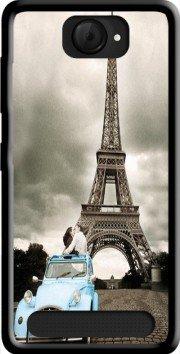 MOBILINNOV Archos 40d Titanium Romance à Paris Sous la Tour Eiffel Silikon Hülle Handyhülle Schutzhülle - Zubehor Etui Smartphone Archos 40d Titanium Accessoires